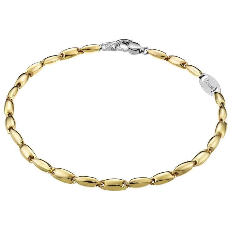 Immagine di Bracciale Zancan Insigna in Oro Giallo e Dettaglio Oro Bianco EB554GB