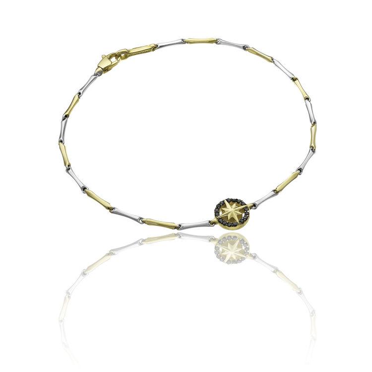 Immagine di Bracciale Chimento in Oro Bianco e Giallo con Diamanti Neri 1B05398BN2