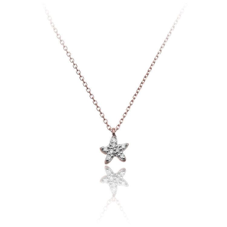 Immagine di Collana Chimento Donna in Oro Rosa e Diamanti 1G09613BB6