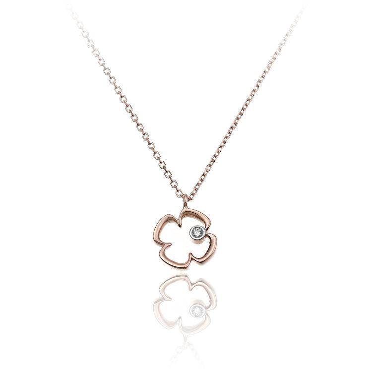 Immagine di Collana Chimento Donna in Oro Rosa e Diamanti 1G09673B16