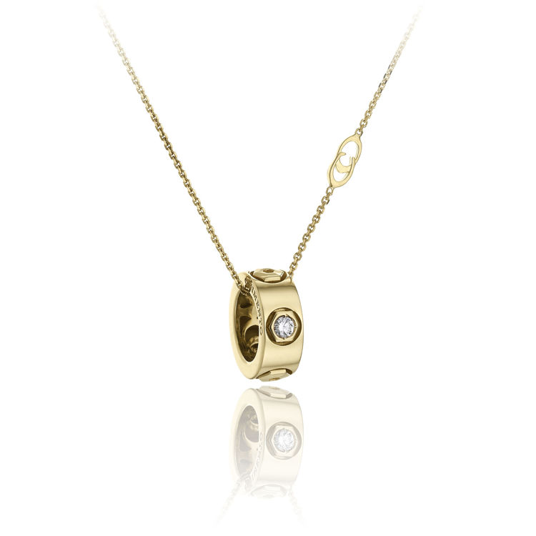 Immagine di Collana Chimento Donna in Oro Giallo e Diamanti 1G01312B01