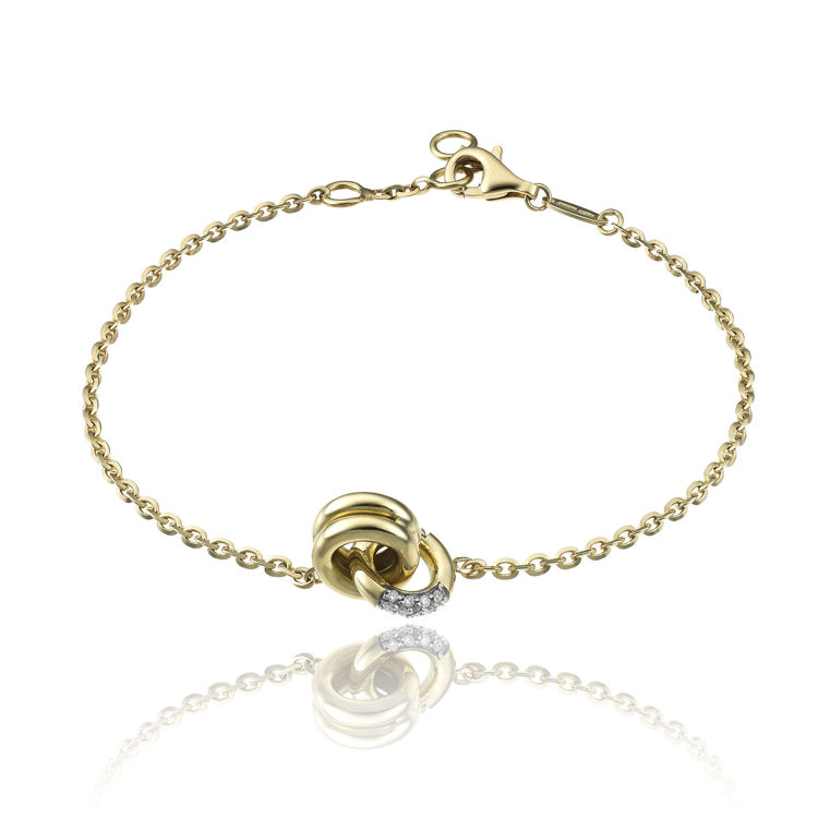 Immagine di Bracciale Chimento  Bamboo Donna in Oro Giallo e Diamanti 1B14411BB1