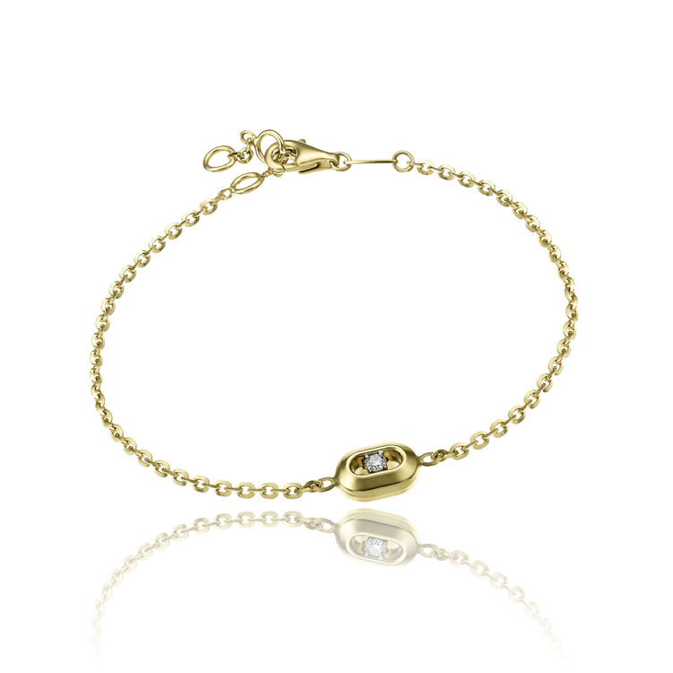Immagine di Bracciale Chimento Donna Double Optima in Oro Giallo e Diamante cod.1B10260B11190