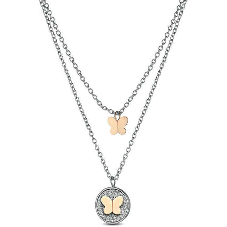 Immagine di Collana Donna Ops Objects Glitter Coin Con Ciondolo Farfalla | OPSCL-601