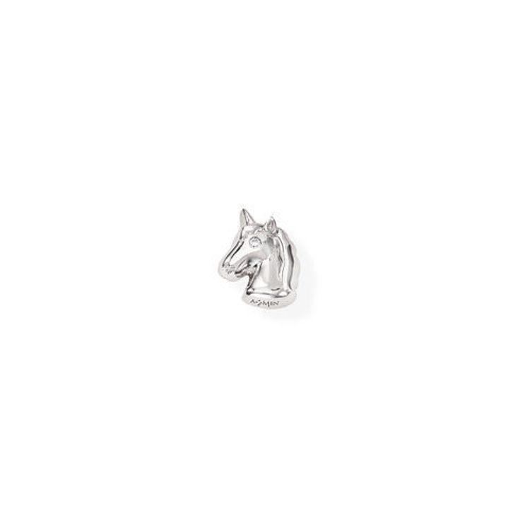Immagine di Mono Orecchino Unicorno In Argento Gioielli Amen | EB34