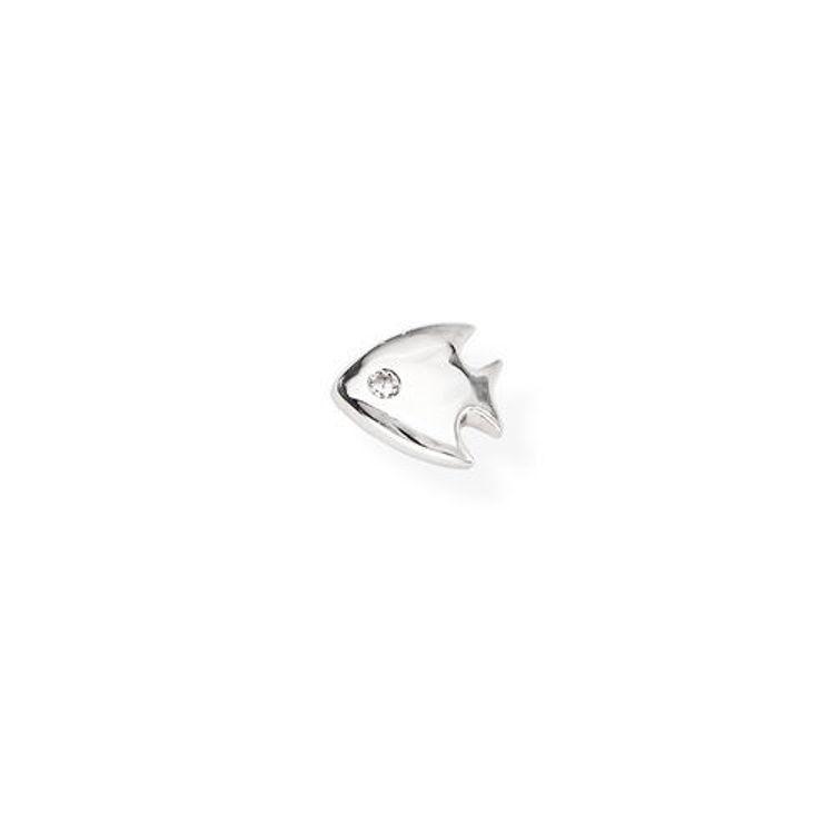 Immagine di Mono Orecchino Pesce In Argento Gioielli Amen | EB18