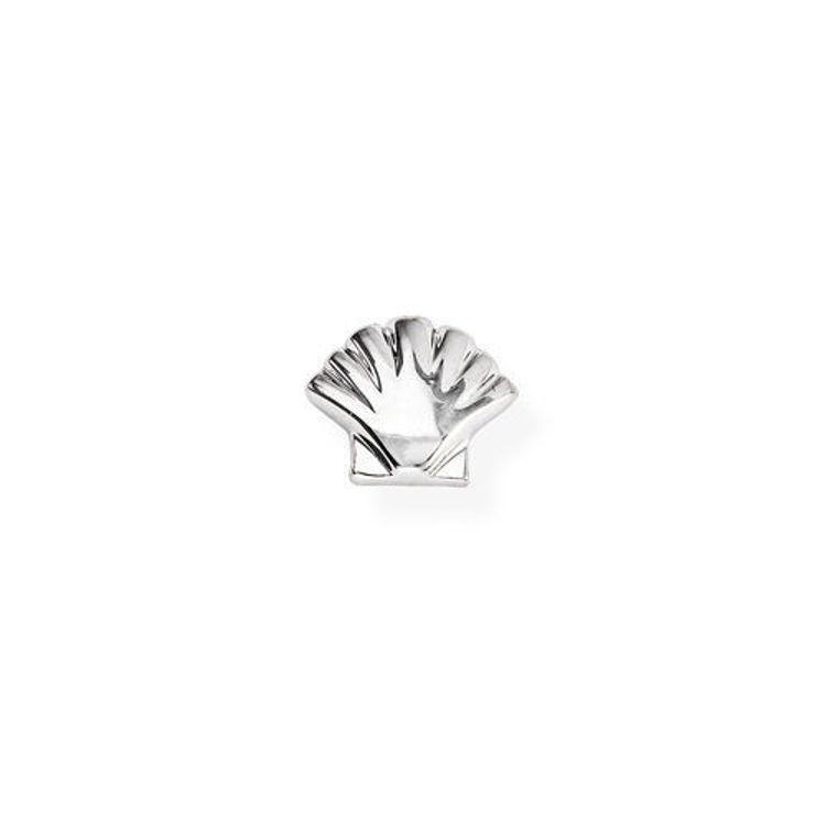 Immagine di Mono Orecchino Conchiglia In Argento Gioielli Amen | EB24