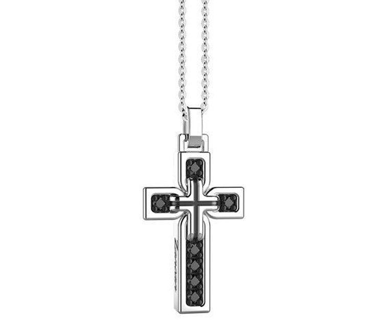 Immagine di Collana Uomo Croce In Argento Gioielli Zancan Insignia 925 | ESC011