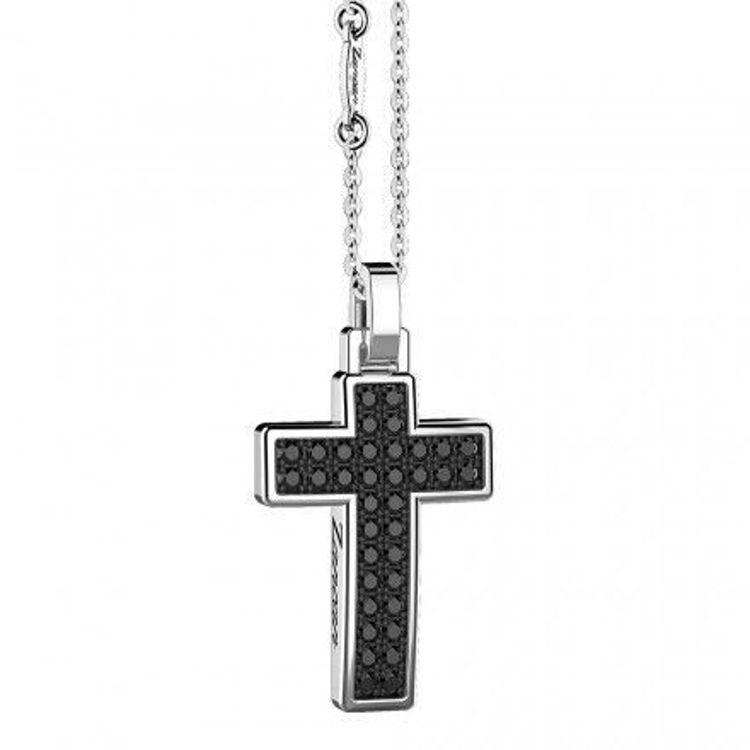 Immagine di Collana Uomo Croce In Argento Gioielli Zancan Insignia 925 |  ESC045