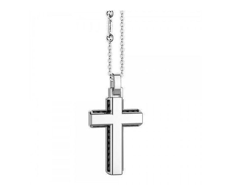 Immagine di Collana Uomo Croce In Argento Gioielli Zancan Insignia 925 |  ESC046